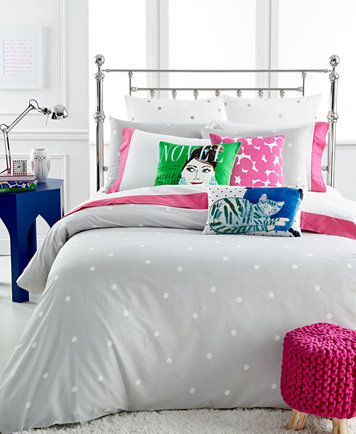 kate spade new york Deco Dot Platinum Full/Queen Comforter Set ...