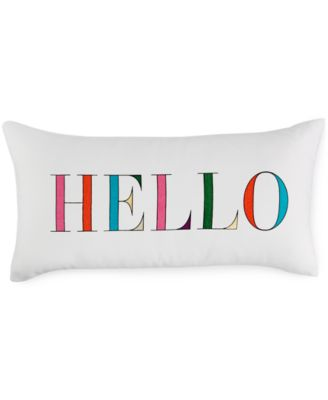 "kate spade new york Hello 10"" x 20"" Decorative Pillow"