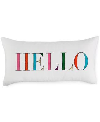 "kate spade new york Hello 10"" x 20"" Decorative Pillow"