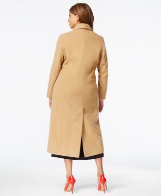 Anne Klein Plus Size Wool-Cashmere Walker Coat - Coats - Women ...