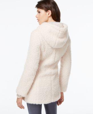 Jessica Simpson Hooded Faux-Fur Coat - Coats - Women - Macy's