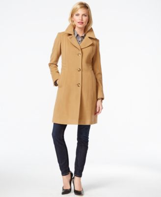 INC International Concepts Petite Asymmetrical-Zip Moto Coat, Only ...