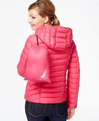 Nautica Reversible Packable Down Coat - Coats - Women - Macy's