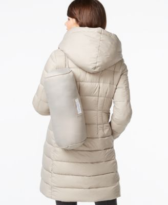 Tahari Knit-Collar Packable Down Coat - Coats - Women - Macy's