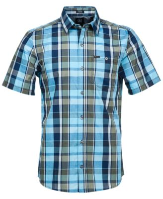 Volcom Parson Plaid Slim-Fit Short-Sleeve Shirt - Casual Button ...