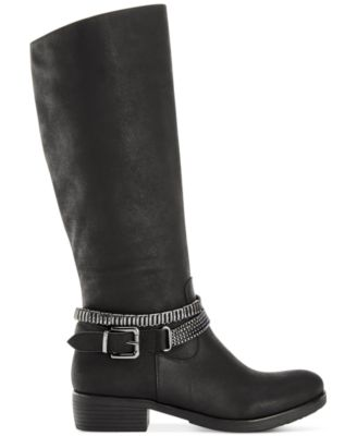 Style&co. Wardd Embellished Wide Calf Moto Boots, Only at Macy's ...