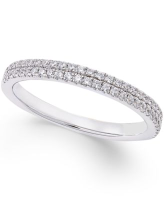 Diamond Micro Pave Wedding Band 1 4 Ct Tw In 14k White Gold