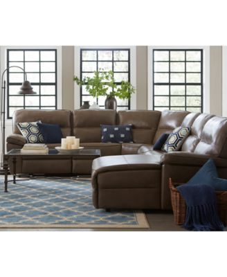 Kory 6-Piece Power Motion Chaise Sectional with 2 Reclining Chairs  sc 1 st  Macyu0027s : macys chaise - Sectionals, Sofas & Couches