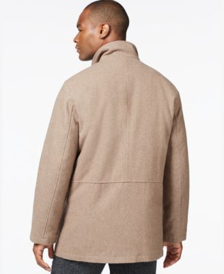 London Fog Big & Tall Wool-Blend Car Coat - Coats & Jackets - Men ...