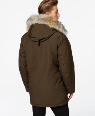 Tall mens parka jacket