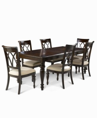 Bradford 7-Piece Dining Room Furniture Set (Table & 6 Side Chairs ...