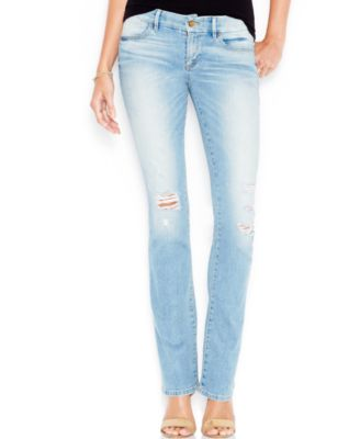 GUESS Ripped Bootcut Jeans, Military Wash - Jeans - Women - Macy's