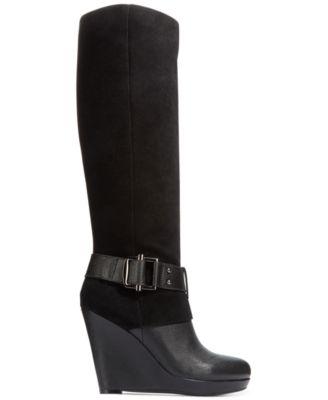 Bar Iii Tilt Tall Platform Wedge Boots Only At Macy S
