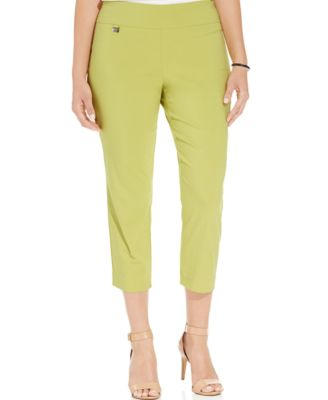 Alfani Plus Size Pull-On Capri Pants - Pants & Capris - Plus Sizes ...