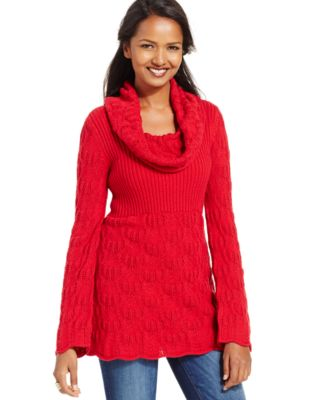 Style & Co. Petite Cowl-Neck Babydoll Sweater, Only at Macy's ...