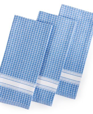 Martha Stewart Collection 3 Pc. Cobalt Waffle Weave Kitchen Towels, Only At  Macyu0027s