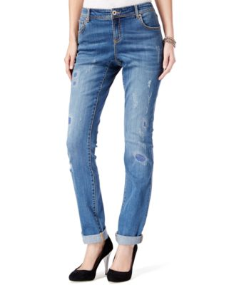 INC International Concepts Patchwork Boyfriend Jeans, Only at ...