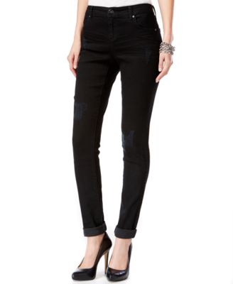 INC International Concepts Ripped Skinny Jeans, Black Wash, Only ...