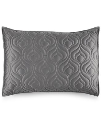 INC International Concepts Rizzoli Gunmetal Quilted Standard Sham, Only at Macy's