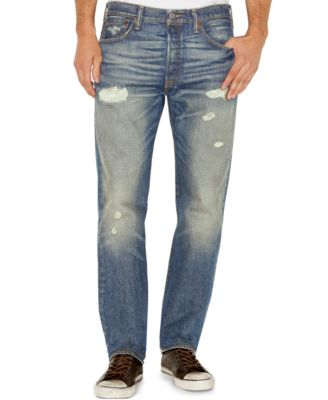 Levi's® 501 Ripped and Faded Straight-Leg Jeans, Torn Up Wash ...