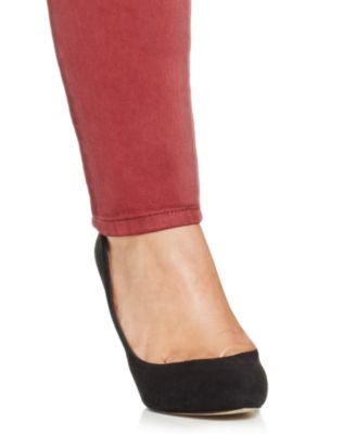 Jessica Simpson Plus Size Colored Skinny Jeans, Cabernet Wash ...
