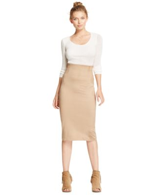 XOXO Juniors' High-Waisted Midi Pencil Skirt - Skirts - Juniors ...