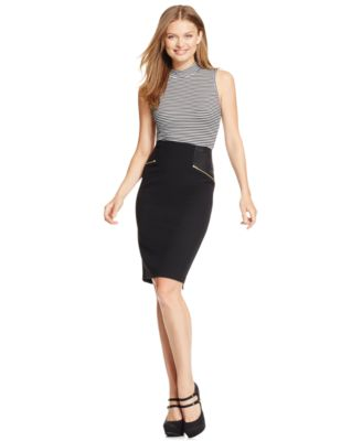 XOXO Juniors' Zipper-Front Faux-Leather Pencil Skirt - Skirts ...