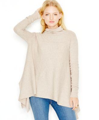 Free People Long-Sleeve Turtleneck Sweater - Sweaters - Women - Macy's