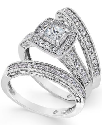 Prestige Unity Diamond Engagement Ring and Wedding Band Ring in