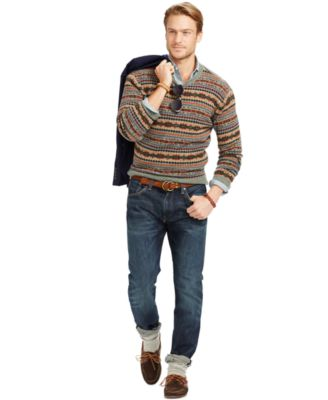 Polo Ralph Lauren Fair Isle Wool Sweater - Sweaters - Men - Macy's