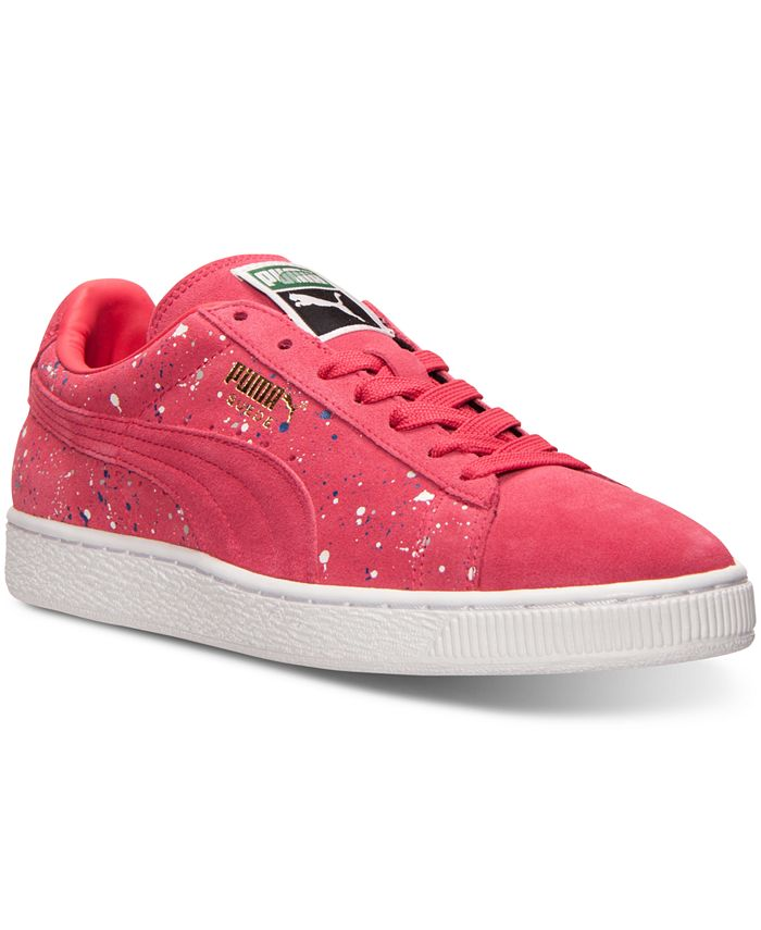 Puma - Men's Suede Classic Splatter Casual Sneakers from Finish Line