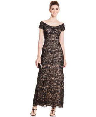 2a594e4cd7b Alex Evenings Off-The-Shoulder Gown – Fashion dresses