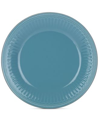 Lenox Dinnerware Stoneware French Perle Groove Bluebell Dinner Plate, Only at Macy's