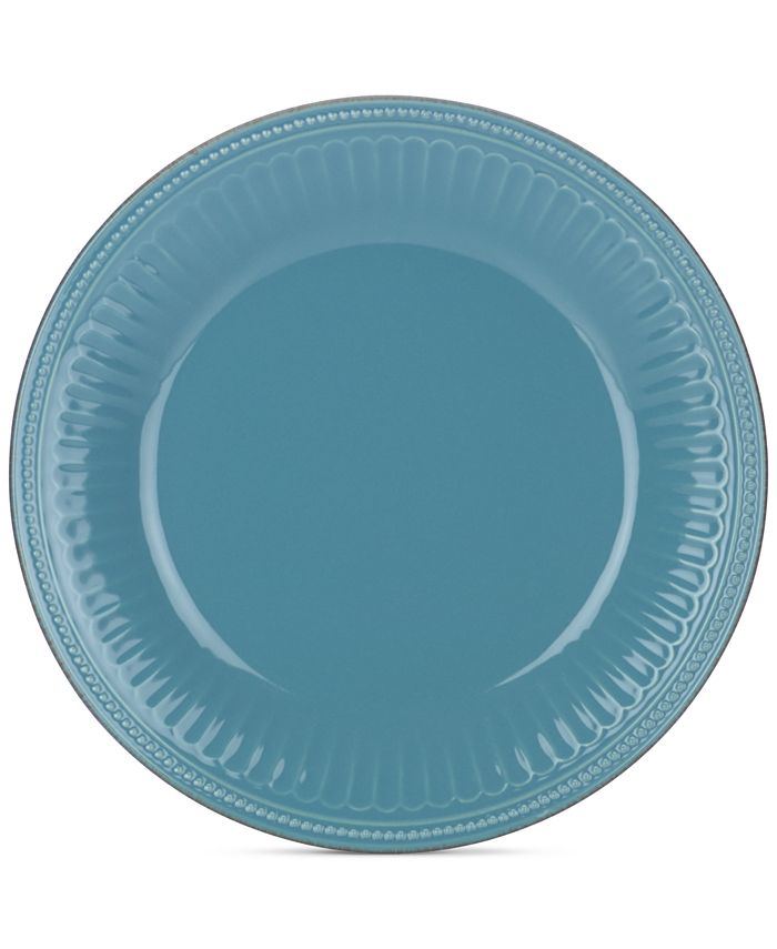 Lenox - Stoneware French Perle Groove Bluebell Dinner Plate, A Macy's Exclusive