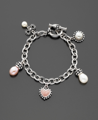 Fresh by Honora Children's Cultured Freshwater Pearl Charm Bracelet