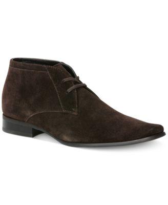 Calvin Klein Ballard Suede Boots - Shoes - Men - Macy\'s