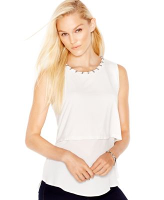Bar III Embellished Layered Top, Only At Macyu0027s