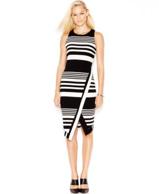 Bar III Striped Midi Dress - Dresses - Women - Macy\'s