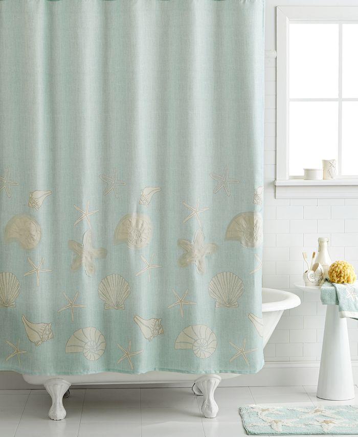 "Avanti - Sequin Shells 72"" x 72"" Shower Curtain"