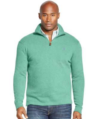 Polo Ralph Lauren Big and Tall French-Rib Half-Zip Pullover ...