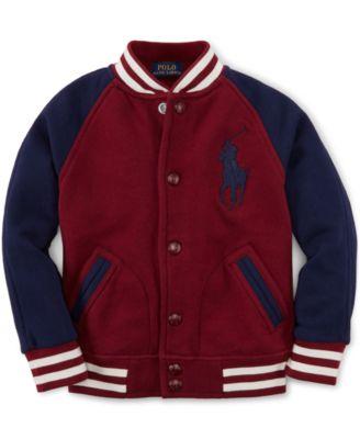 Ralph Lauren Little Boys' Baseball Jacket - Kids & Baby - Macy's