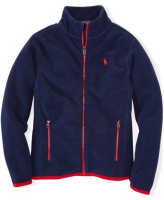 Ralph Lauren Boys' Micro-Fleece Zip Jacket - Kids & Baby - Macy's