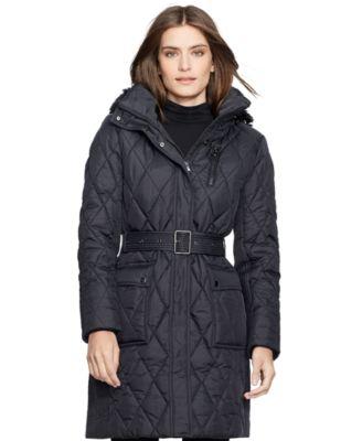 Lauren Ralph Lauren Quilted Belted Down Puffer Coat - Coats ... : quilted belted coat - Adamdwight.com