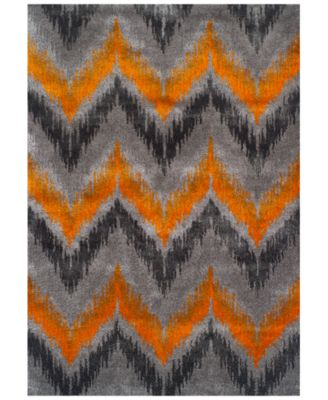 CLOSEOUT! Modern Abstracts Chevron Tangerine 7'10