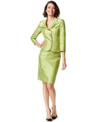 Le Suit Three-Button Skirt Suit - All Suits & Suit Separates ...
