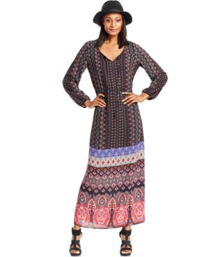 Ny Collection Printed Peasant Dress