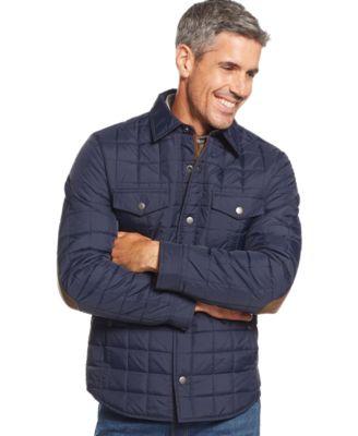 Tasso Elba Quilted Shirt Jacket - Coats & Jackets - Men - Macy's