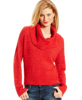 MICHAEL Michael Kors Cowl-Neck Hi-Low Sweater - Women's Brands ...