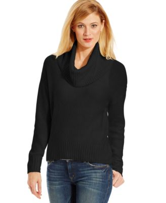 MICHAEL Michael Kors Petite Size Cowl-Neck High-Low Sweater ...