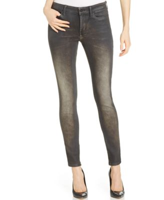 Calvin Klein Jeans Faded Skinny Jeans, Black Rock Wash - Jeans ...